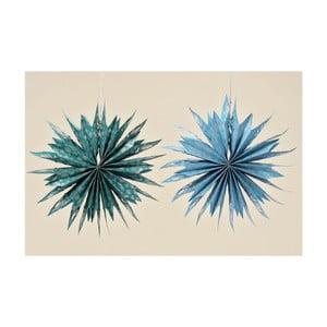 Sada 2 dekorativních papírových hvězd Boltze Holly, 56cm
