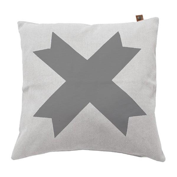 Bílý polštář OVERSEAS Live Laugh Love,45x45cm