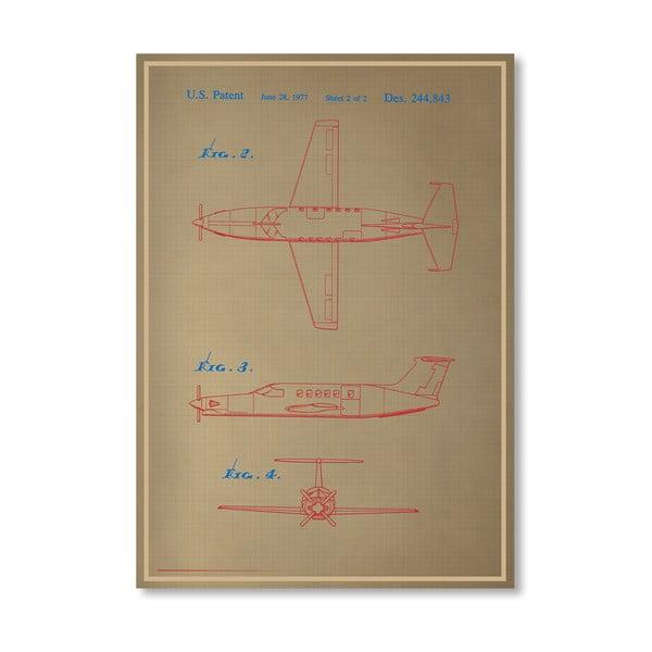 Plakát Airplane III, 30x42 cm