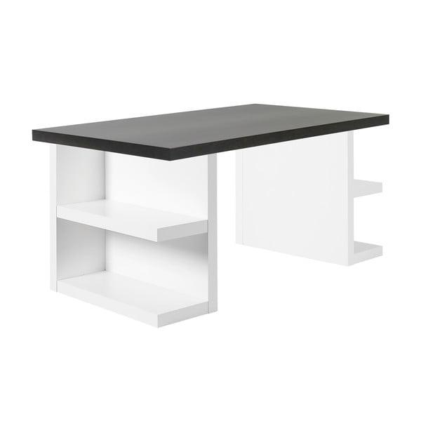 Tmavě hnědý pracovní stůl TemaHome Multi, 180 cm