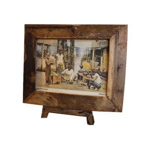 Rámeček  na fotografie z teakového dřeva HSM Collection Antique, 43x36cm
