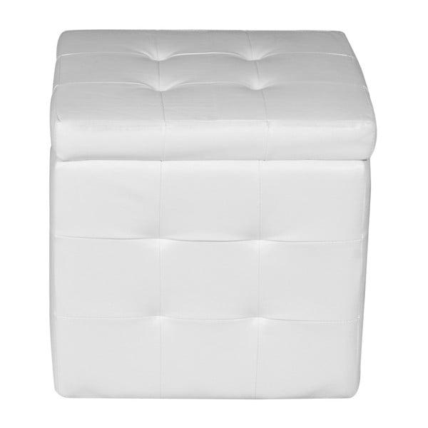 Taburet cu spațiu depozitare Evergreen House Multi, alb