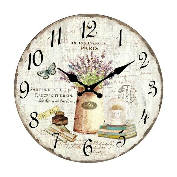 Skleněné hodiny Paříž, 34 cm
