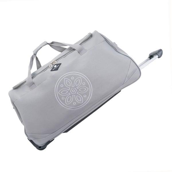 Svetlosivá cestovná taška na kolieskach GERARD PASQUIER Miretto, 91 l