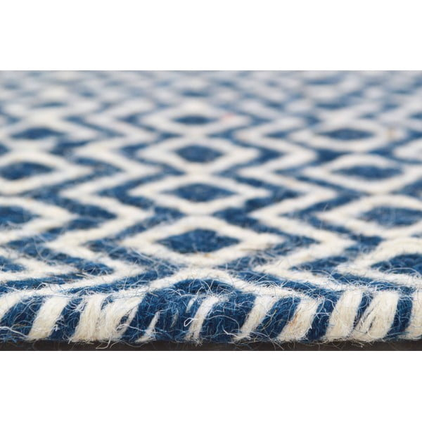Koberec Flat Blue Waves, 100x160 cm