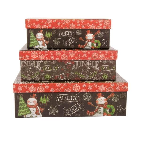 Sada 3 úložných krabic Jingle