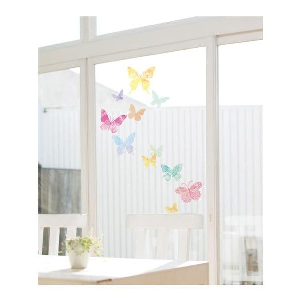 Set autocolante Ambiance Artistic Butterflies, 24 buc.