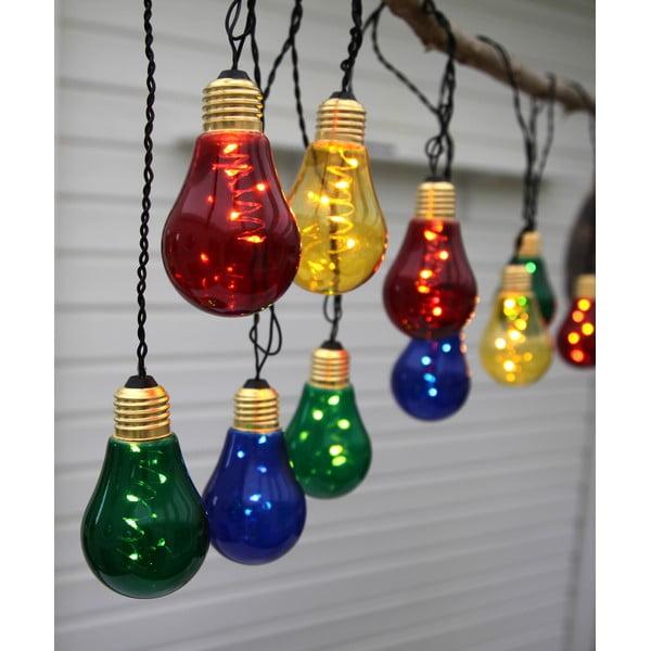 Șirag luminos LED Best Season Glow, 10 becuri, multicolor