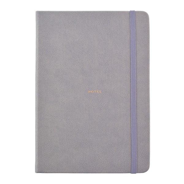 Šedý zápisník o formátu A5 Busy B, 96 stran
