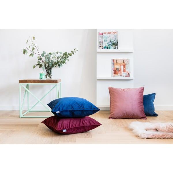 Față de pernă roz WeLoveBeds Heard Wood, 50 x 50 cm