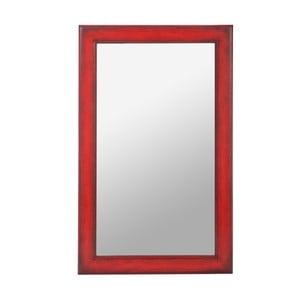 Zrcadlo Wood Mirror Red, 80x50 cm