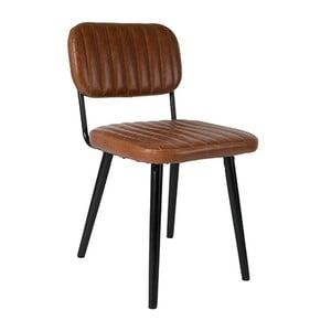 Hnědá židle Jake Worn