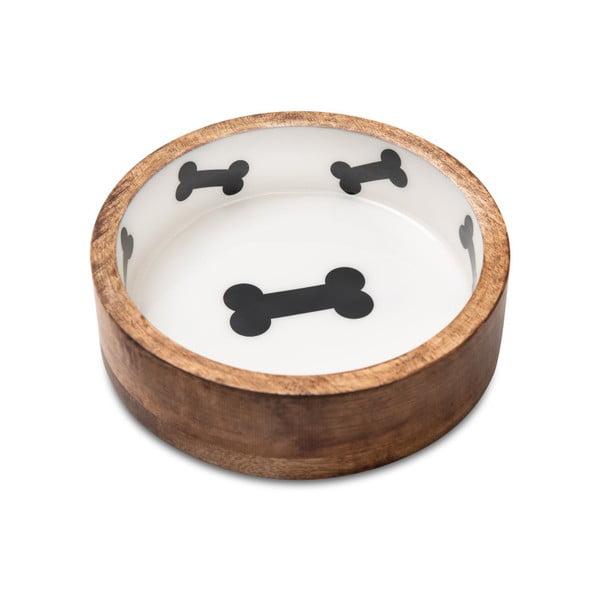 Bol din lemn pentru câini Marendog Bowl, ⌀ 18 cm