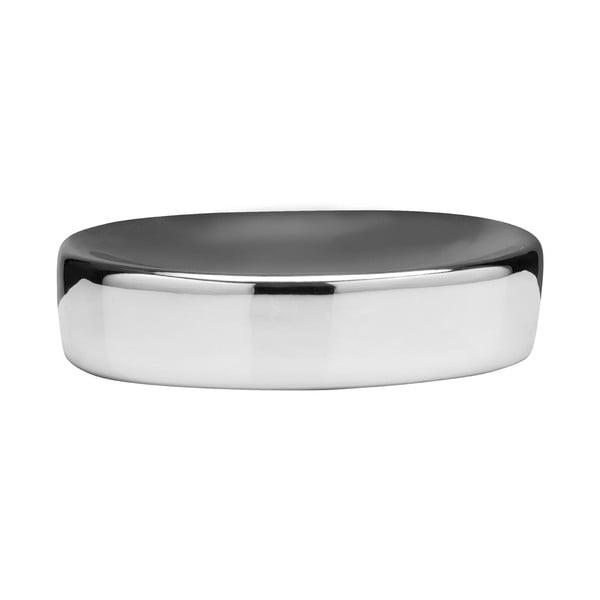 Podložka pod mýdlo z dolomitu stříbrné barvy Premier Housewares Magpie