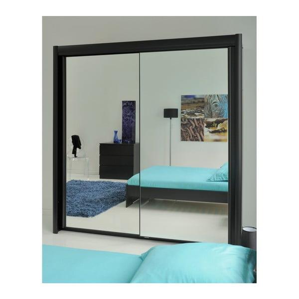 Černá dvoulůžková postel Parisot Arlette, 140x190cm