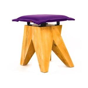 Dřevěná stolička Low, fialová