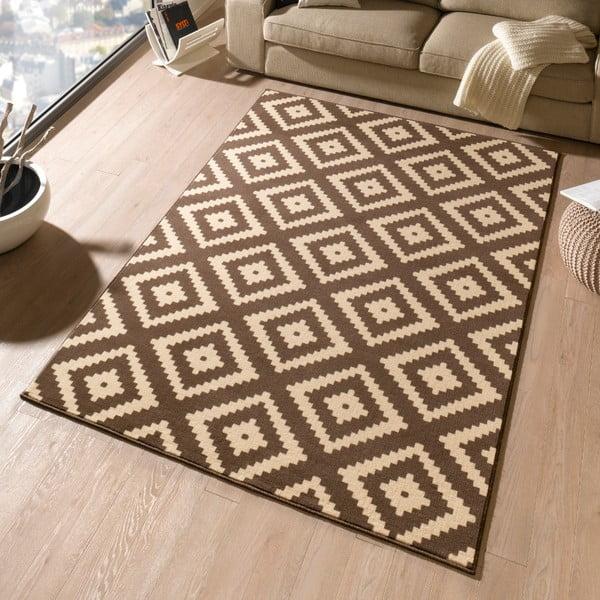 Hnědý koberec Hanse Home Hamla Diamond, 80x200cm