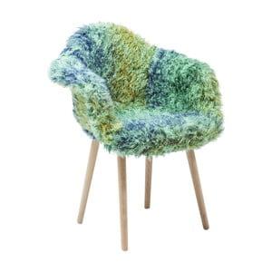 Scaun Kare Design Yeti, verde-albastru