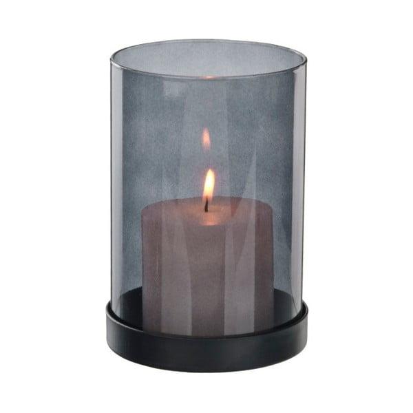 Fialový transparentní svícen Native Luxury, ⌀ 10,5 cm