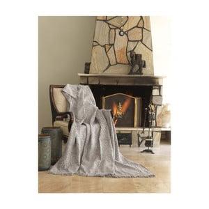 Pătură din bumbac Mismo Linen, 170x220cm, bej