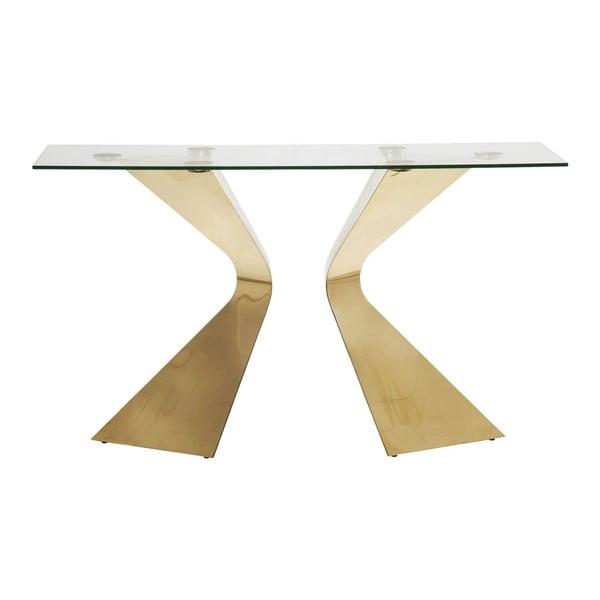 Gloria konzolasztal, aranyszínű lábakkal - Kare Design
