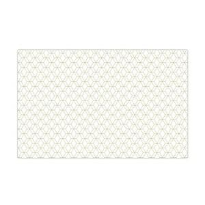 Ubrus Hexagon White, 140x220 cm