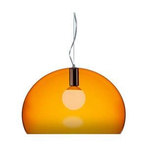 Oranžové stropní svítidlo Kartell Fly, ⌀52cm