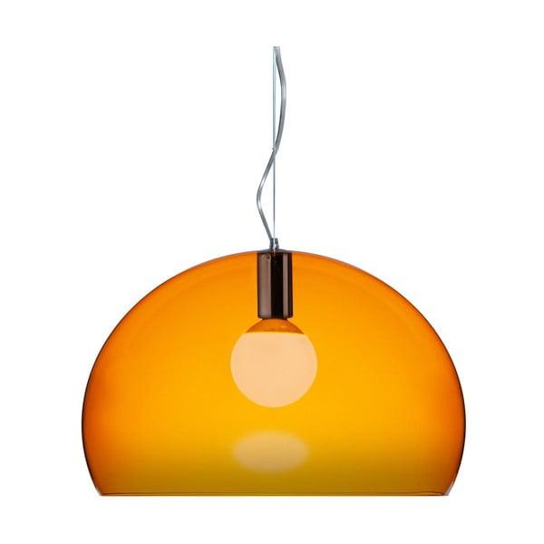 Oranžové  stropní svítidlo Kartell Fly