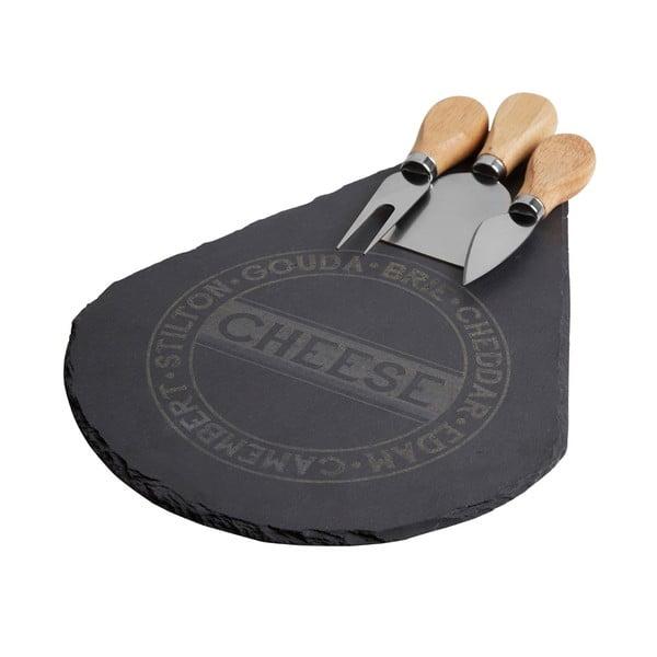 Deska do serwowania serów z 3 nożykami Premier Housewares Cheese Set
