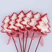 Set 12 bețișoare decorative cu brăduți Dakls
