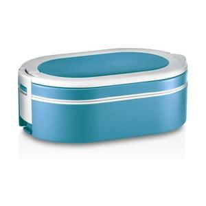 Modrý oválný termo box na oběd Enjoy, 1,4 l
