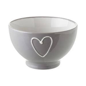 Šedá keramická miska Unimasa Heart, 580 ml