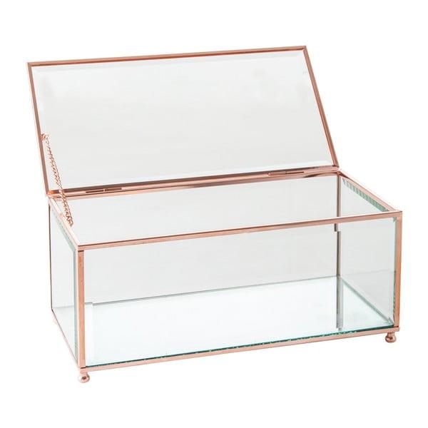 Šperkovnice J-Line Jewel Glass, 25x12 cm