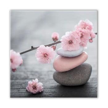 Tablou Styler Glasspik Spa & Zen Pink Stone, 30 x 30 cm