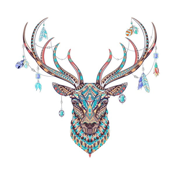 Autocolant Ambiance Boho Deer