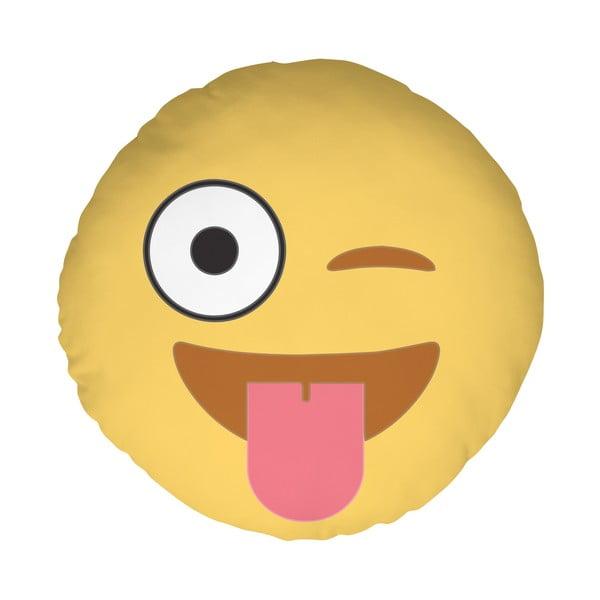 Polštář Emoji Tongue, 39 cm