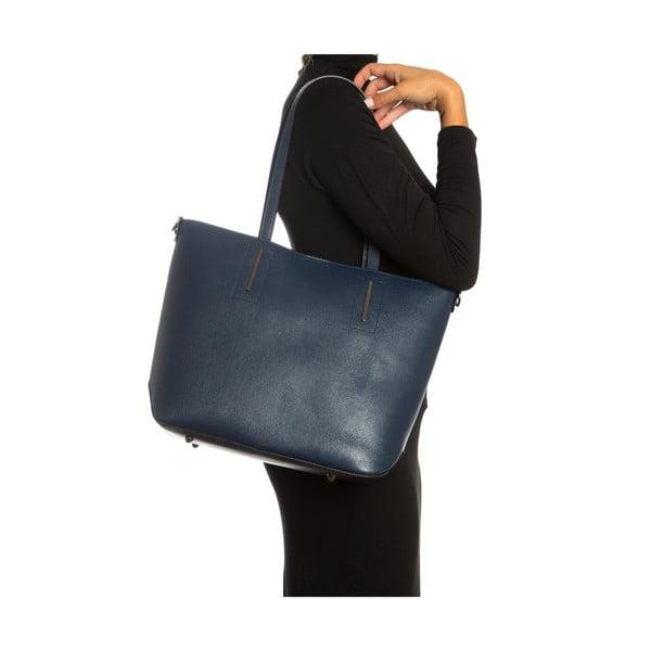 Modrá kožená kabelka Sofia Cardoni Massima
