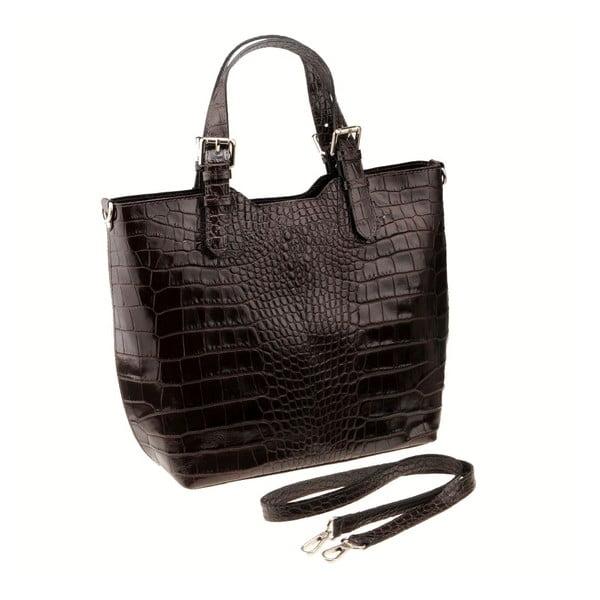 Tmavě hnědá kožená kabelka Florence Cembro