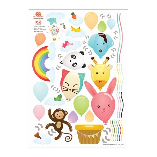 Autocolant Ambiance Ballons and Funny Monkey