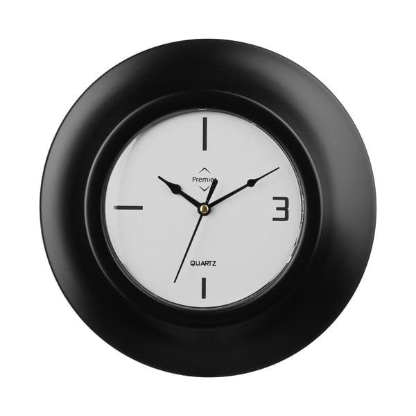 Hodiny Black Clock, 26 cm