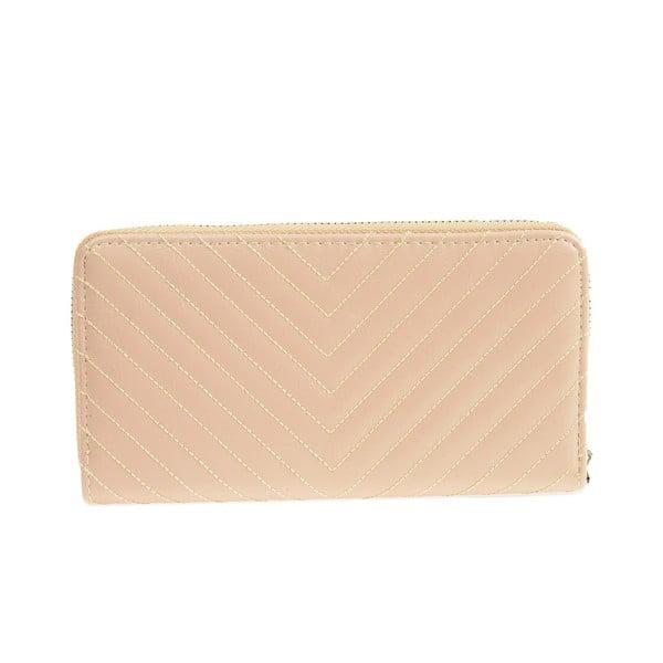 Béžová koženková peněženka Carla Ferreri