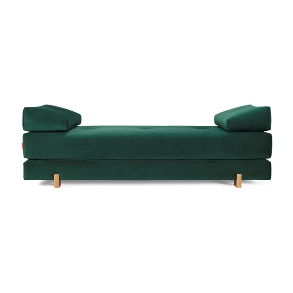 Canapea extensibilă Innovation Sigmund Velvet Forest Green, verde închis