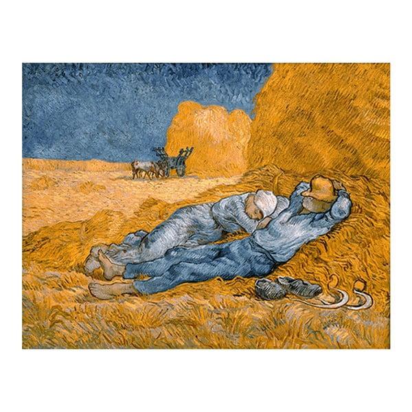 Obraz Vincenta van Gogha - Noon, rest from work, 50x40 cm