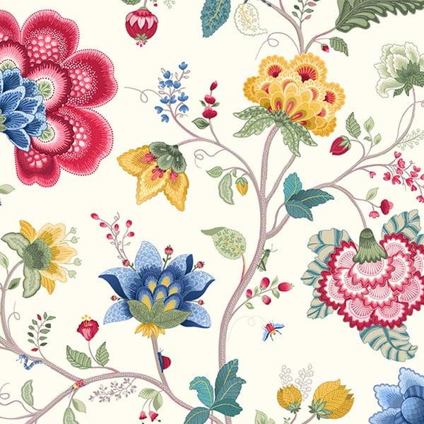 Tapeta Pip Studio Floral Fantasy, 0,52x10 m, bílá