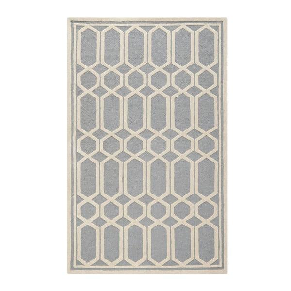 Vlněný koberec Safavieh Olivia, 121x182 cm, šedý