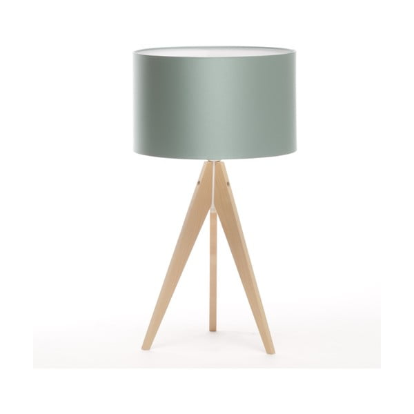 Stolní lampa Artist Light Green Blue/Natural Birch, 65 cm