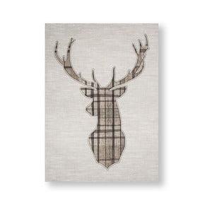 Obraz Graham & Brown Tartan Stag, 50 x 70 cm
