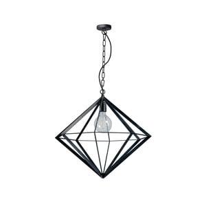 Černé kovové závěsné svítidlo ETH Spider