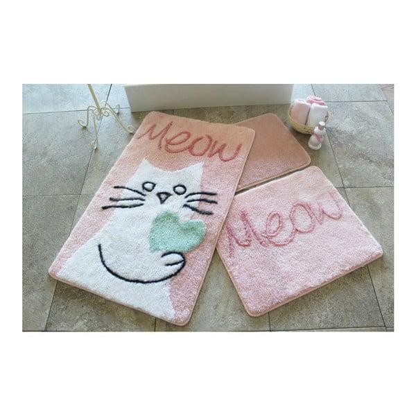 Sada 3 koupelnových předložek Kedicik Pink