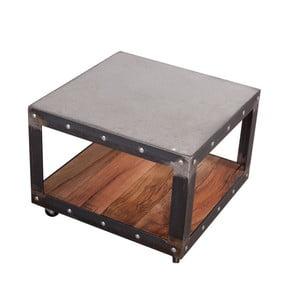 Konferenční stolek s deskami z rekultivovaného dubového dřeva a betonu FLAME furniture Inc. Little Jumbo